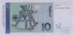 banknote commemorating Gauß' survey