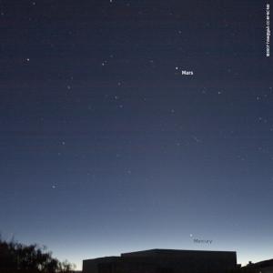 Mercury and Mars in morning twilight